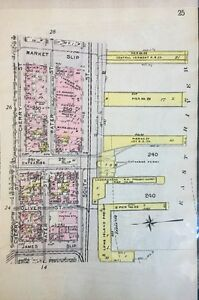 Details about ORIGINAL 1912 G.W. BROMLEY, LOWER EAST SIDE, MANHATTAN, NY  PLAT ATLAS MAP 6X9