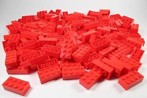 LEGO Red Brick 2x4 - Brand New (Lot of 300 Pieces)