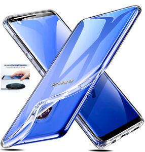Para-Samsung-Galaxy-S8-S9-Estuche-Ultra-Delgado-Funda-de-gel-de-silicona-Clara-Transparente