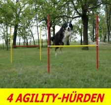 4 X AGILITY-ÜBUNGS-HÜRDEN-SET IN ROT/GELB