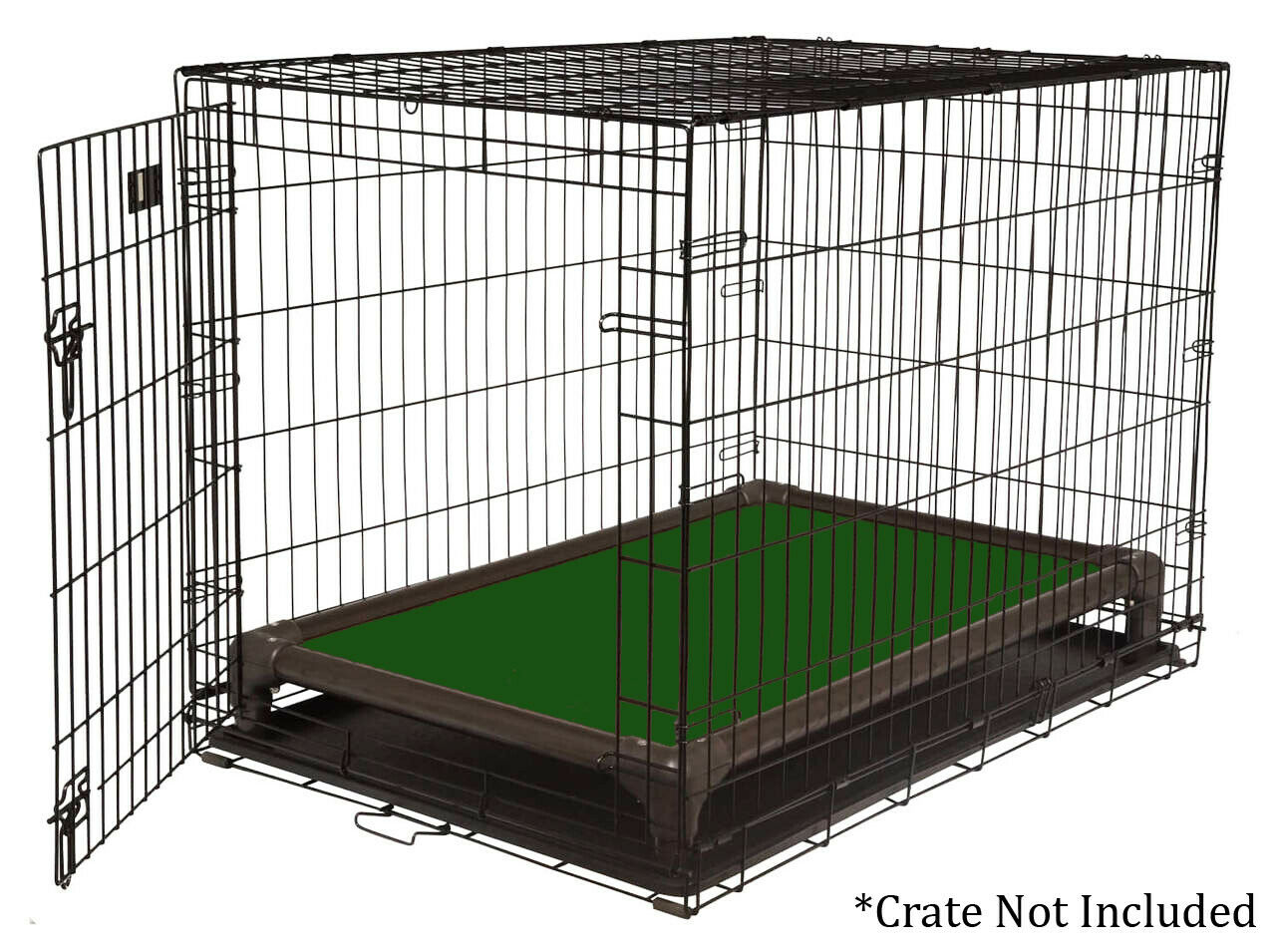 Kuranda Indoor Dog Crate Bed - Walnut Frame - Cordura Fabric - Hunter Green