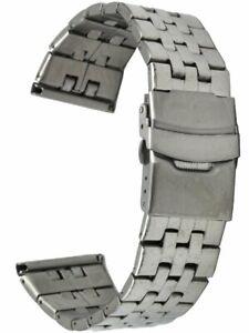 Edelstahl-Uhrenarmband-5-reihig-glanzpoliert-gerader-Stegansatz-24-mm-Laenge-18