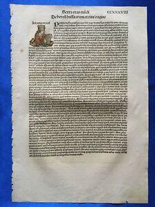 Altkoloriertes Blatt CCXXXVIII, Schedel Weltchronik 1493, Nürnberg, JOHN WYCLIF