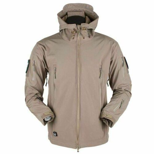 UKOutdoor Waterproof Mens Jacket Tactical Winter Coat Soft Shell Military Jacket