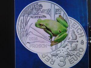 österreich 3 Euro Münze Frosch 2018 Tier Taler In Münzkapsel Ebay