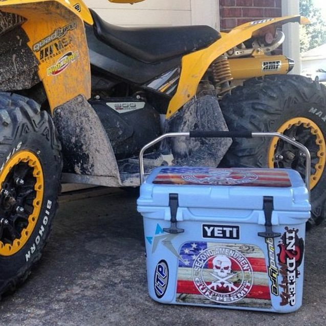 USATuff Cooler Wrap Decal Wrap Cooler fits YETI Tundra 125qt Full Niedriger USA Ammo Skull 3b5c4e