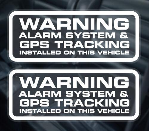 2 x car alarm window stickers gps tracker installed warning sticker