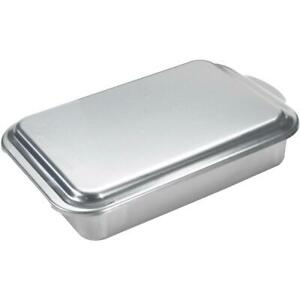 Nordicware 9 In X 13 In Aluminum Cake Pan With Lid 46320