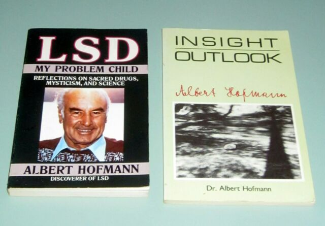 2 Books Albert Hofmann PSYCHEDELIC LSD INSIGHT ON SACRED DRUGS MYSTICISM SCIENCE