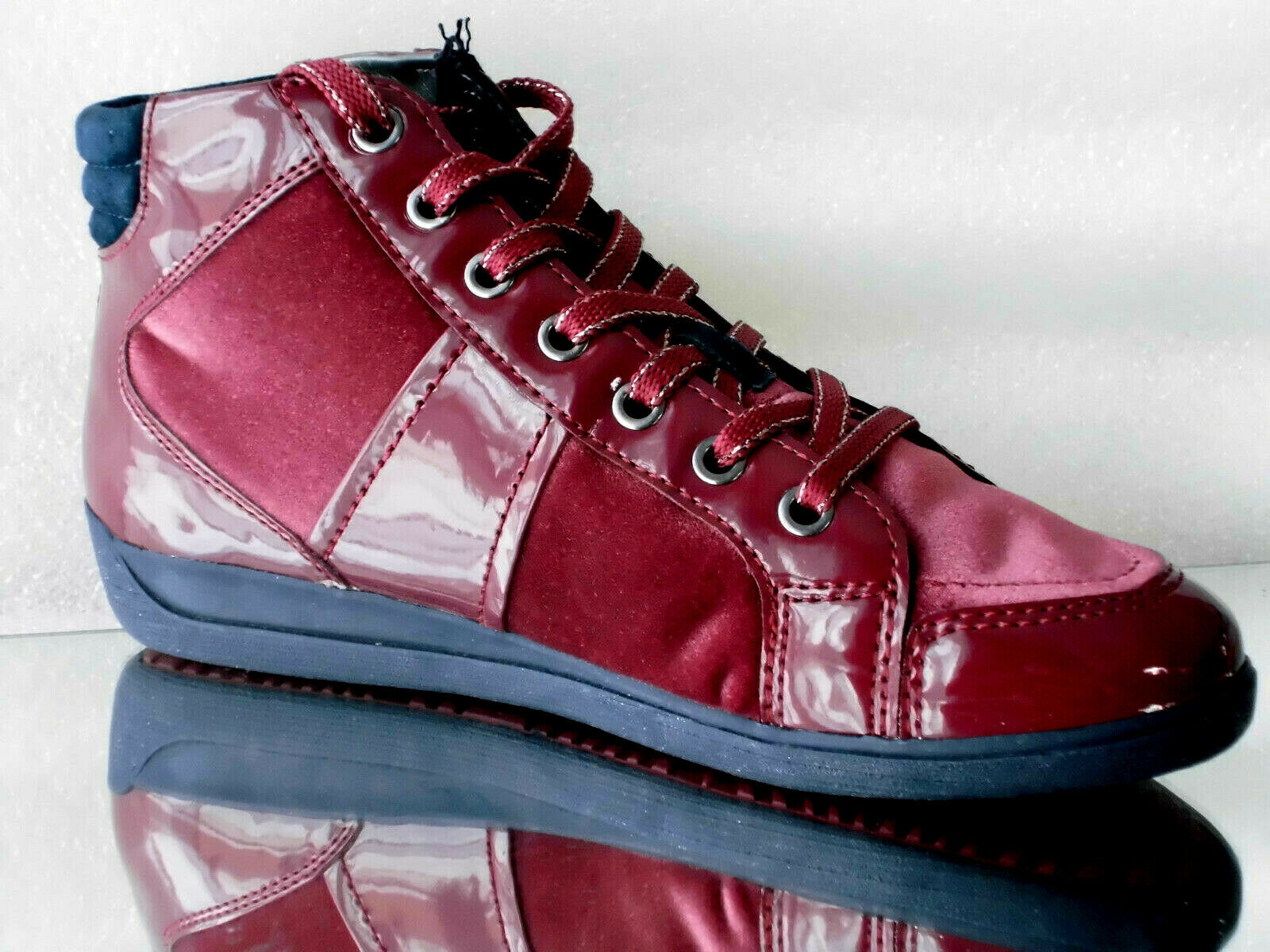 D Bordeaux Damengeox Respira Hightop Eur40 Myria 267mm Us10 Sneaker Velvet C7005 WEHYeDI29