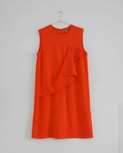 Sleeveless Ärmellos Red Rot Neon Hof115 Kleid Raw nbsp;cos Layer Dress L Viskose TEaOR