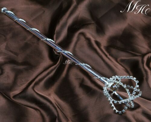 King Queen Scepter Wand Crystal Pageant Wedding Party Costumes Sceptre SZ029
