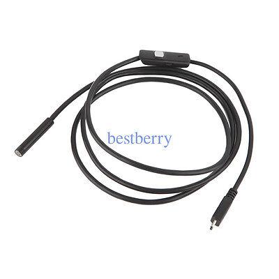 Endoscope USB étanche inspection caméra miniature caméra espion (5.5mm 1m)