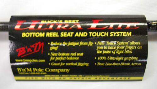 BnM BUCK/'S BEST ULTRA-LITE W// BOTTOM SEAT CRAPPIE JIG POLE 11/' BBULBS11 B/&M