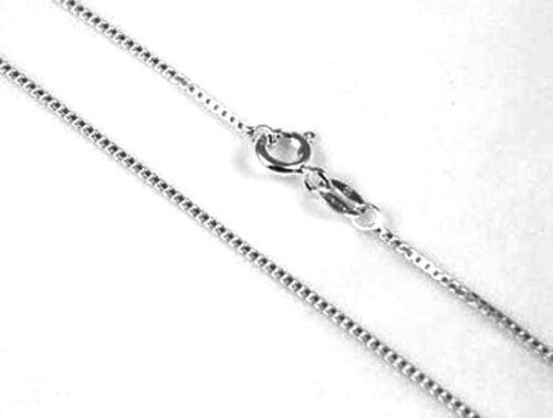 """Un argent sterling 925 qualité poids lourd box collier chaîne 18/"""" 46 cm"""