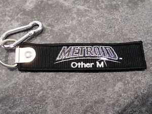 METROID-OTHER-M-KEYRING-KEYCHAIN-TAG-NEW