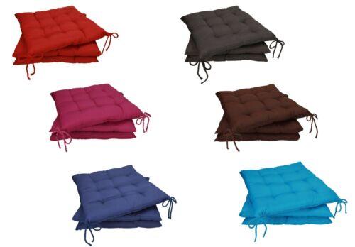 Betz Lot de 3 galettes de chaise avec brides HOLIDAY taille 40x40 cm