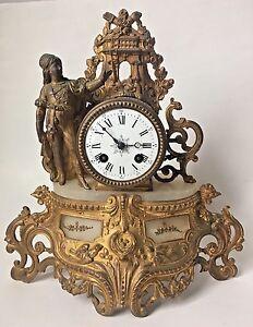 Antique French Mantel Clock Deprez W