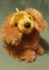 "Aurora People Pals Brown Cocker Spanial Puppy Dog Plush Stuffed Key Chain 6"""