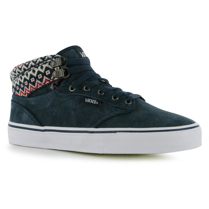 VANS ATWOOD HI TOP TRAINERS LADIES – NAVY Blau – SIZE 4.5 – BNIB