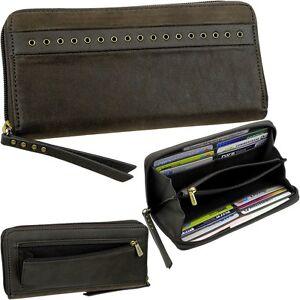 ESPRIT-Zipper-Damen-Geldboerse-Vintage-Portemonnaie-Geldbeutel-Ladys-Purse-Neu