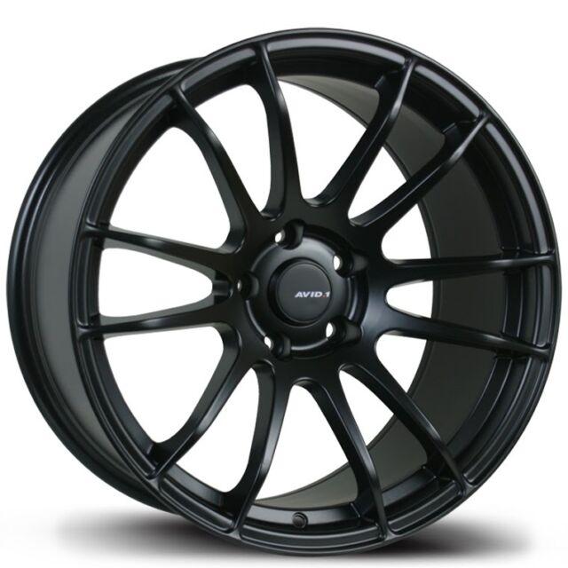Avid1 AV20 17x8 +35 18x9.5 +38 5x114.3 Matte Black Honda