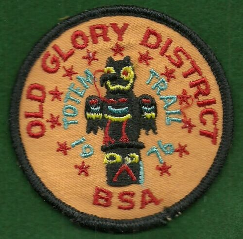 BOY SCOUT PATCH - 1976 OLD GLORY DISTRICT - WATCHUNG COUNCIL - FREE SHIPPING  XX