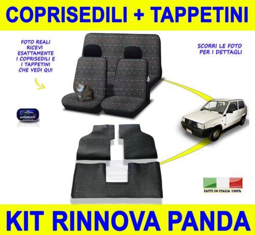 Fiat Panda 4x4 Sisley tappetini auto in gomma con fodere coprisedili sedile set