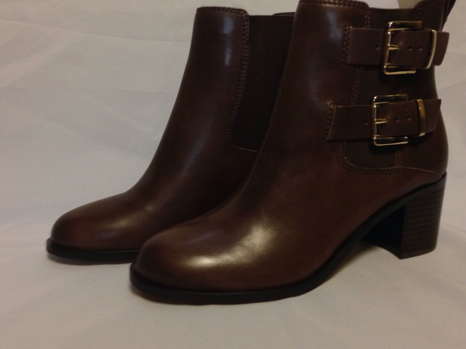 Sam Sam Sam Edelman Jodie Ankle démarrage 8.5 M Dark marron Leather  New w Box bcf89c