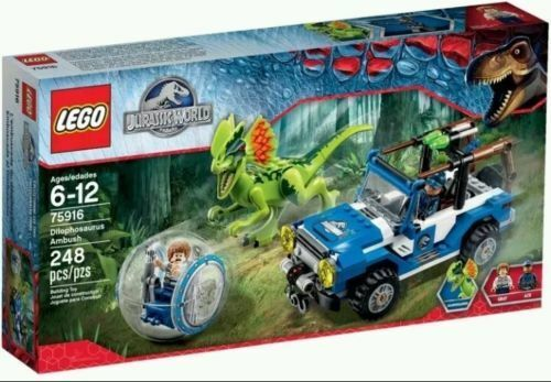 Lego 75916 Jurrassic World Dilophosaurus Ambush Set brand new