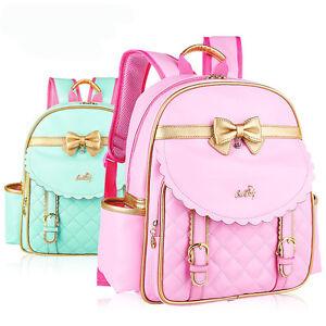 Girls Kids Backpack Schoolbag Rucksack Bookbags Handbag Cute Bowknot Backpacks