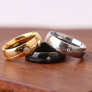 Eg-Herren-Damen-Mode-Strass-Titan-Edelstahl-Ehering-Verlobungsring-Auge