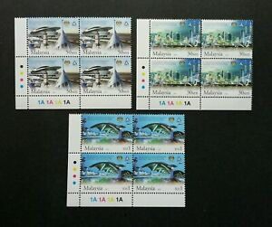 SJ-5th-Infrastructure-Asia-Pacific-Region-Malaysia-2005-stamp-block-of-4-MNH