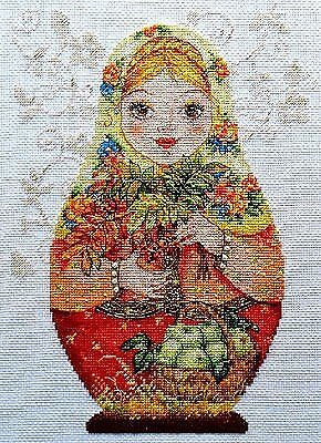AUTUMN RED NESTING DOLLS Counted Cross Stitch Kit ALISA