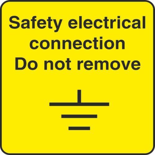 Conexión eléctrica de seguridad 50MMX50MM látex salud Pegatina De Advertencia de seguridad advierten 275B