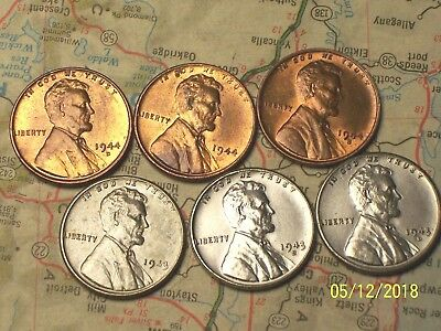 2-Roll High-Grade 100 coin Lot Lincoln Steel CentS 1943-S Choice Quality AU
