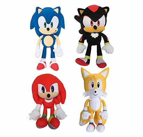 """Sonic The Hedgehog Shadow Tails Knuckles 8/"""" Plush Toy Kids Boys Girls Set of..."""