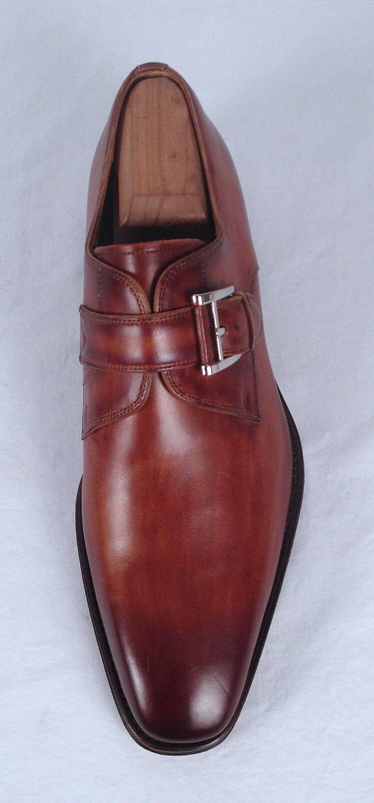Magnanni 'Marco' Monk Strap- Cuero  Brown- Size 8 M   Cuero 325  (H2) f1b644