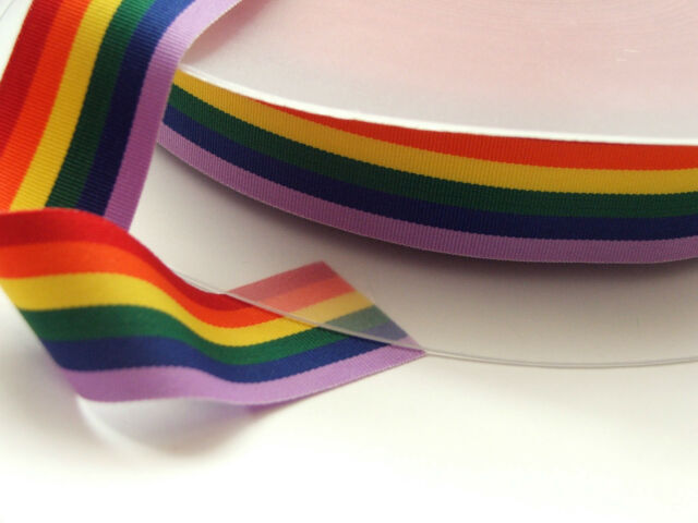 Rainbow Pride Ribbon 25mm x 3 metres