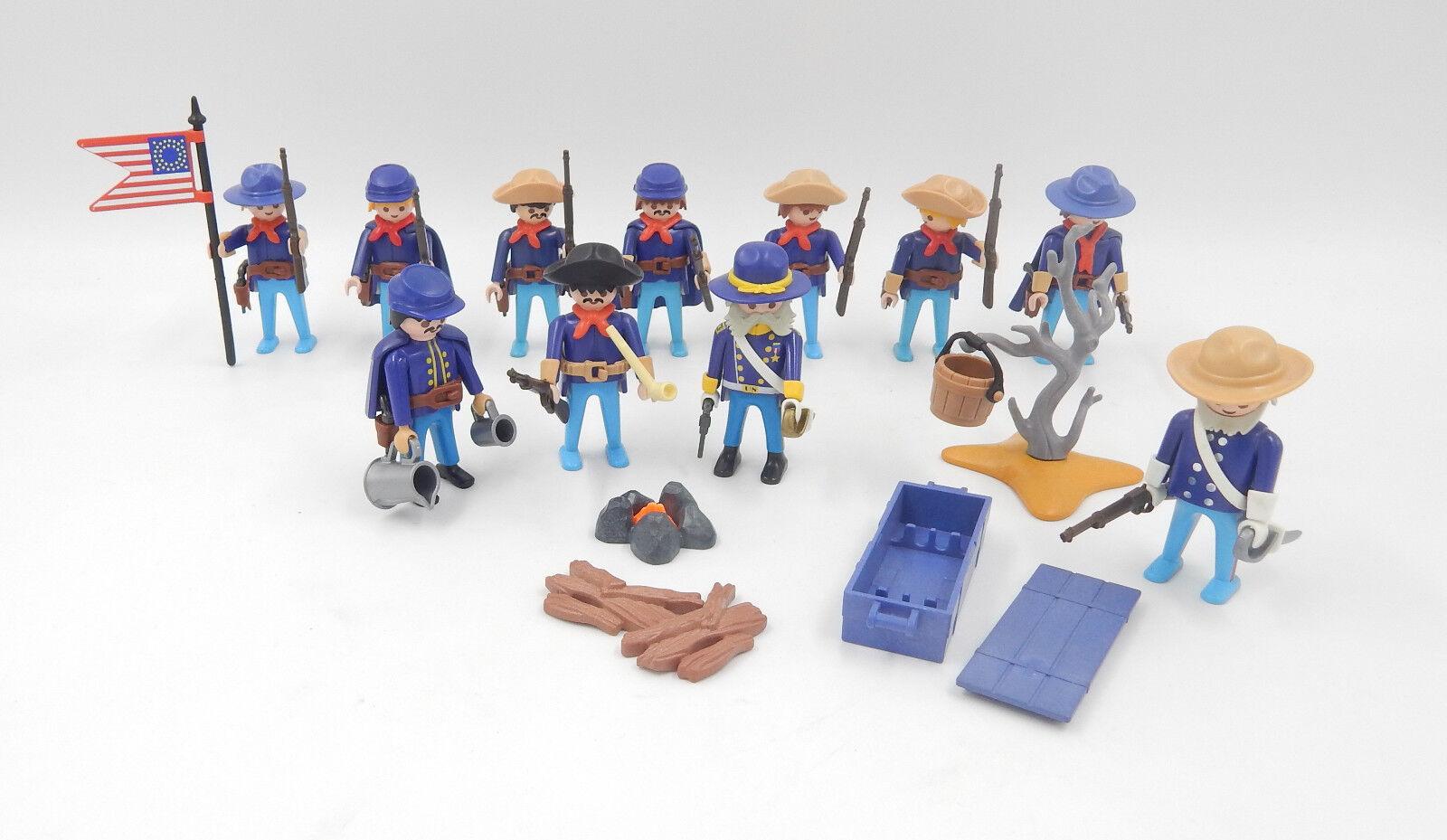 PLAYMOBIL personaggi BLU gonne accumulare soldati magazzino con il generale  ACW  acquisto limitato
