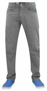 Crosshatch-Hombres-Jeans-De-Pierna-Recta-Regular-Fit-Comfort-Algodon-Pantalones-Pantalon-Denim
