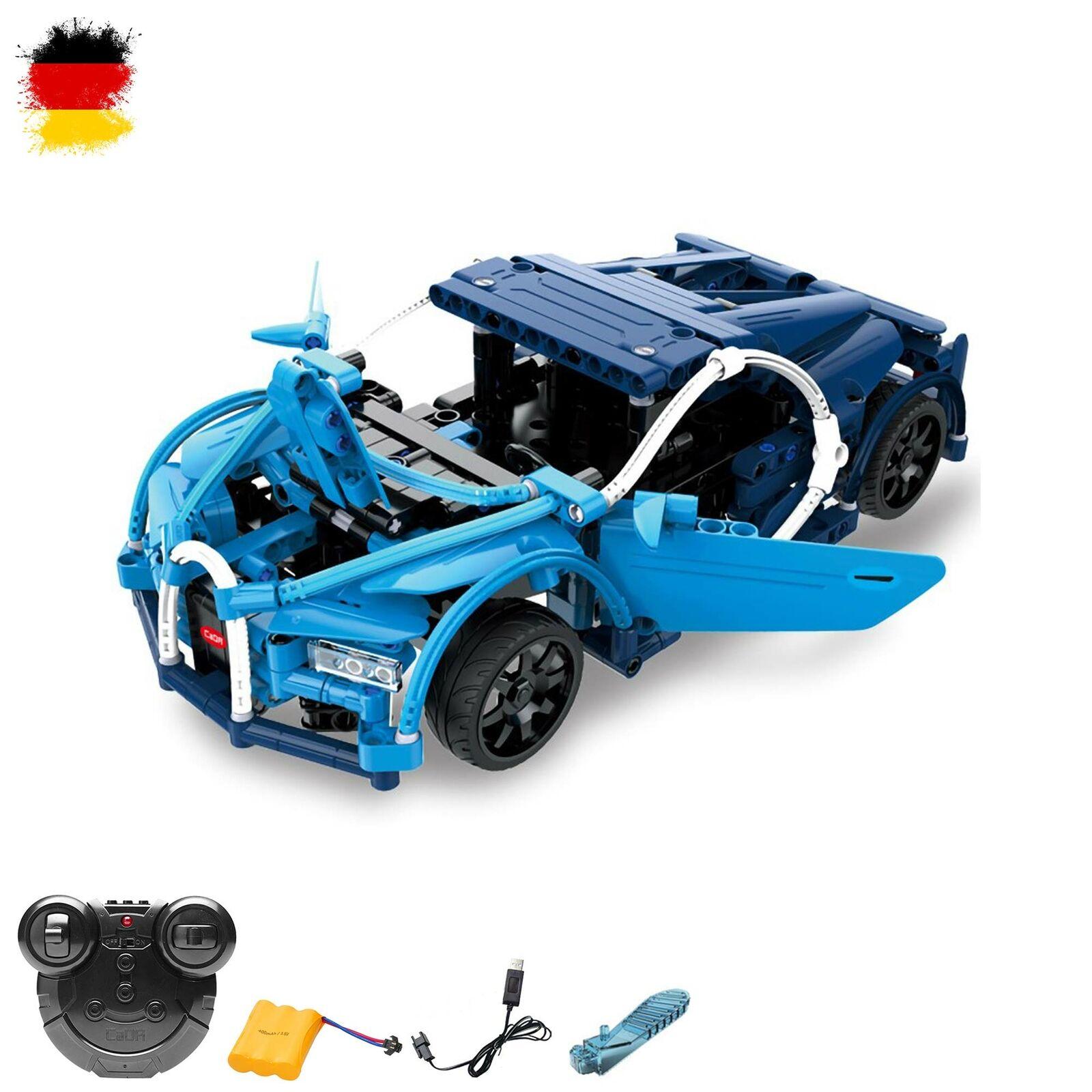 RC ferngesteuerter Sport-Fahrzeug aus Bausteinen mit Fernsteuerung,Auto mit Akku