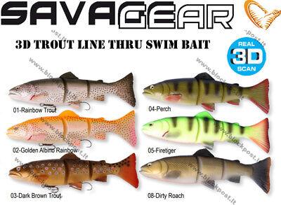 MS Savage Gear 3D Line Thru  Trout 20 cm SS