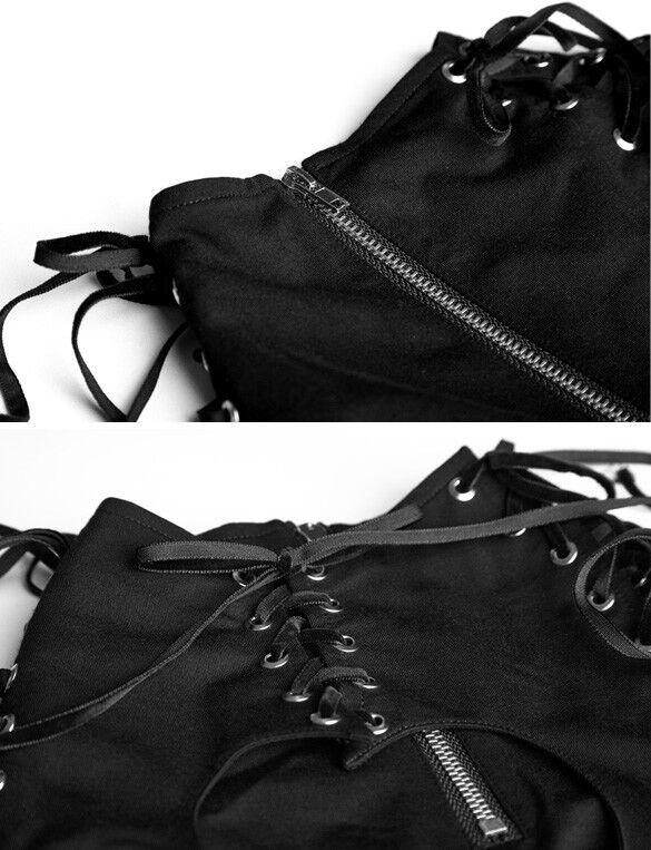 Robe patineuse gothique punk lolita lolita lolita découpe coeur laçages burlesque zip Punkrave 1f257e
