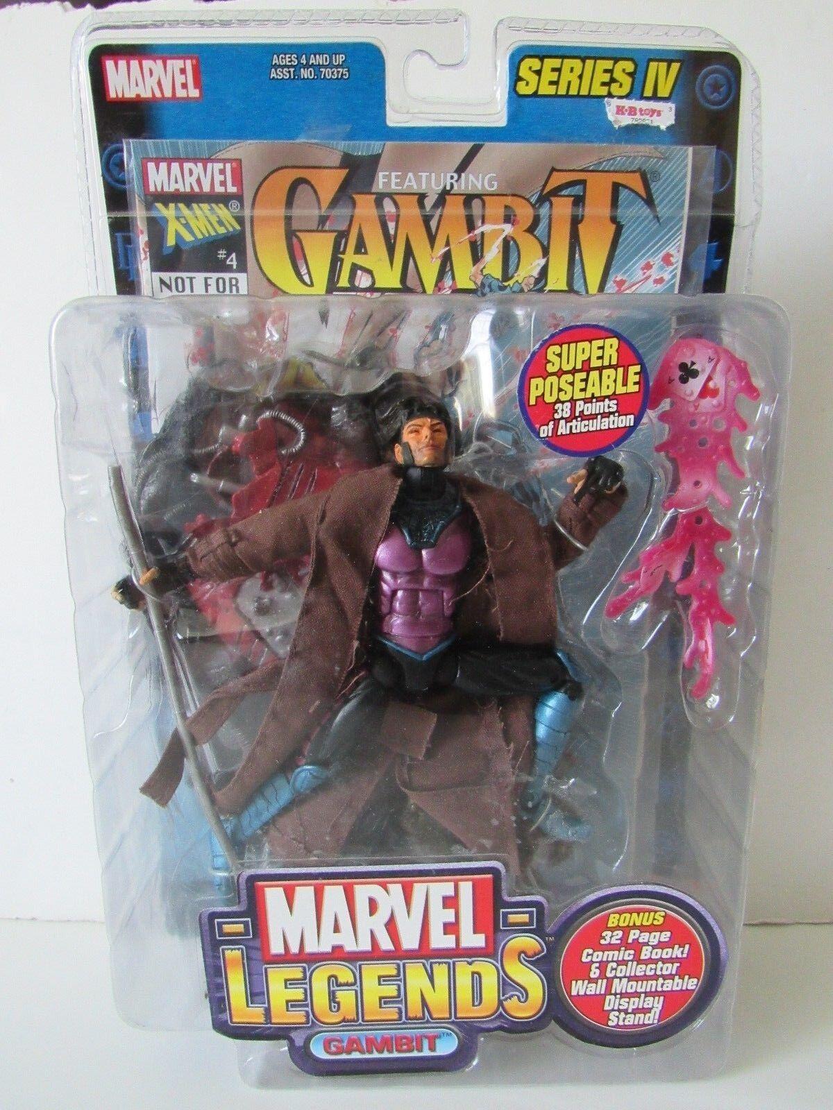 Marvel Leyendas Toybiz Serie 4 X Men Gambito 6  Pulgadas Figura De Acción Nueva En Paquete