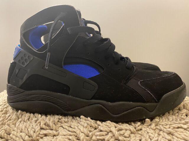 "Nike Air Flight Huarache ""Fab 5"", Black/Lyon Blue, 705005-002, Mens Size 13"