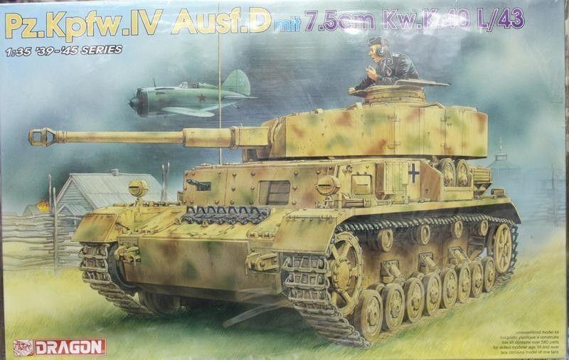 Dragon 6330, Pz.Kpfw.IV Pz.Kpfw.IV Pz.Kpfw.IV Ausf.D m.7,5cm Kw.K.40L 43, 1 35  | Starke Hitze- und Hitzebeständigkeit  8925fb