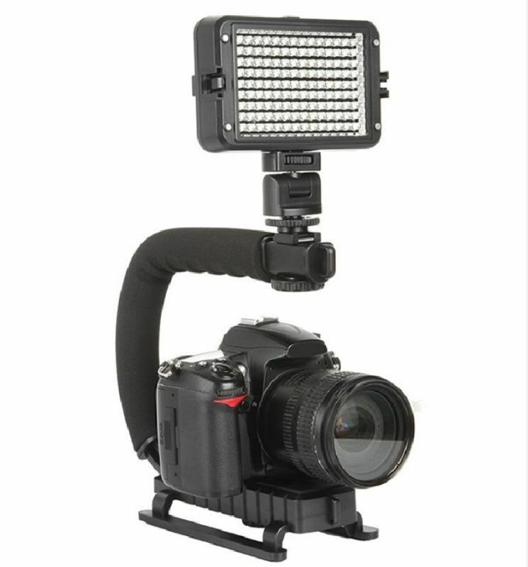 Pro Video Stabilizing Handle Grip for Samsung NV24HD Vertical Shoe Mount Stabilizer Handle