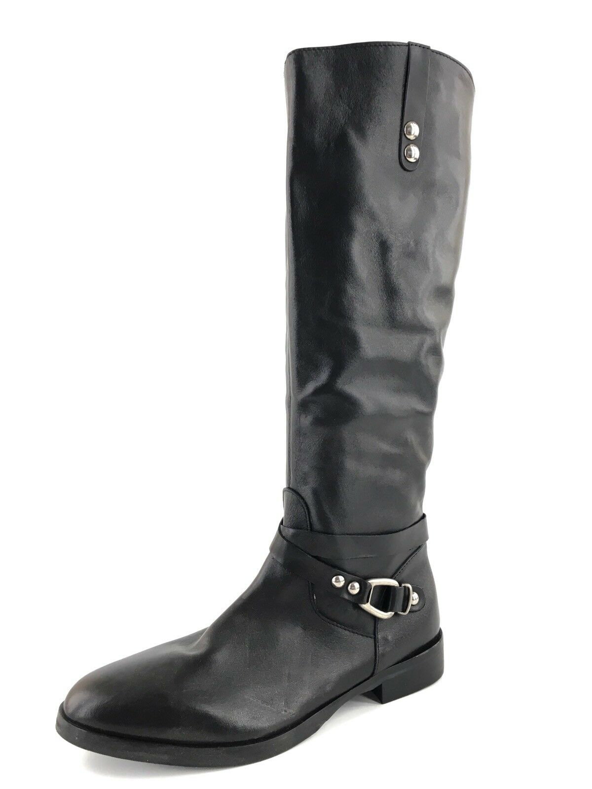 Charles David Rene Black Leather Knee High Womens Boots Size 7.5 M  495