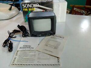 TELEVISORE-E-RADIO-PORTATILE-PER-AUTO-VINTAGE-SONOKO-TVR-5070-B-N